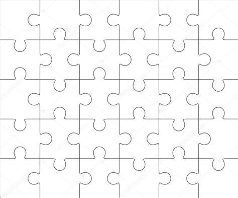 plantilla en blanco    treinta piezas de rompecabezas