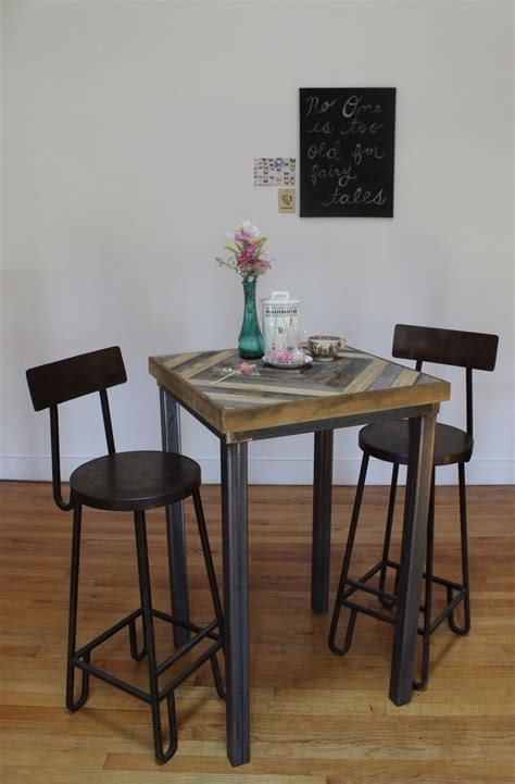 reclaimed wood kitchen table and chairs buy a hand made reclaimed wood pub and kitchen end table
