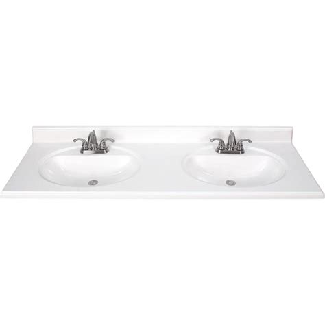 double sink bathroom vanity top shop white cultured marble integral double sink bathroom