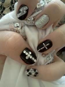 Black and silver nail art images ideas