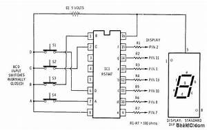 Bcd Decoder 1 - Basic Circuit - Circuit Diagram