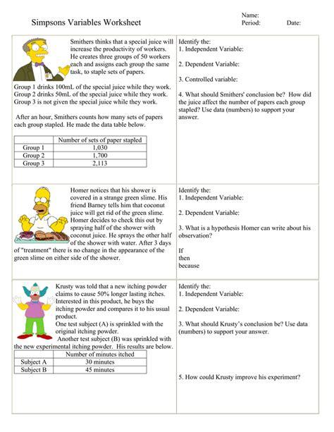 Worksheet Independent Vs Dependent Variable Worksheet Worksheet Fun Worksheet Study Site