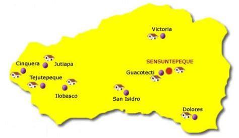 Cabañas Departamento Map, El Salvador
