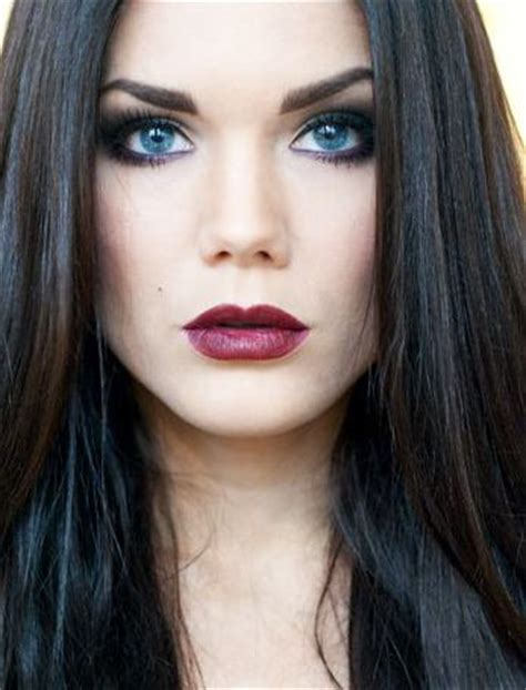 Haired Blue Eyed by Hallberg Black Hair And Blue On