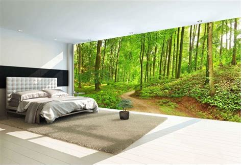 forest trail landscape high definition backdrop wall mural