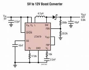 Lt3479 5v To 12v Boost Converter Circuit Collection