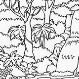 Drawing Jungle Rainforest Getdrawings Coloring Pages Drawings Paintingvalley sketch template