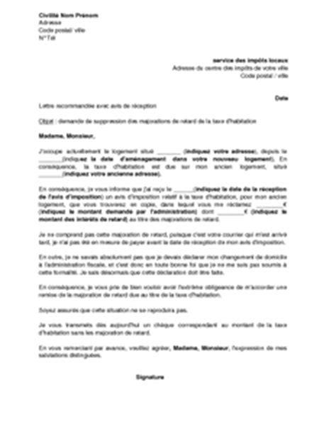 modele lettre exoneration taxe amenagement vetements cuir demande de remise gracieuse taxe d habitation