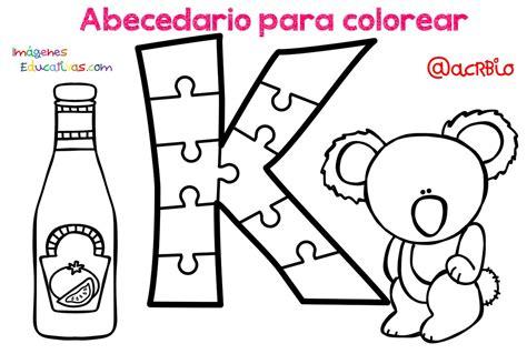 Abecedario para colorear (11) Imagenes Educativas