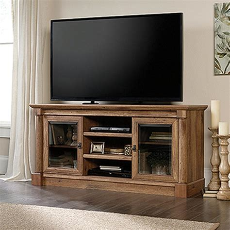 Entertainment Credenzas by Sauder Palladia Collection Vintage Oak Entertainment