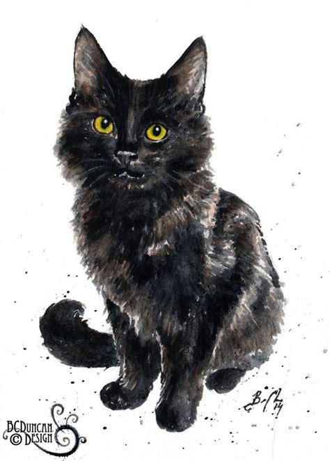watercolor cats images  pinterest watercolor