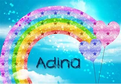 Glitter Graphics Rainbow Text Adina Names Copy