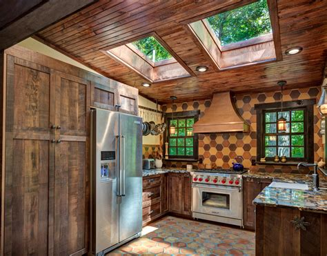 rustic barn wood kitchen interlaken  jersey  design