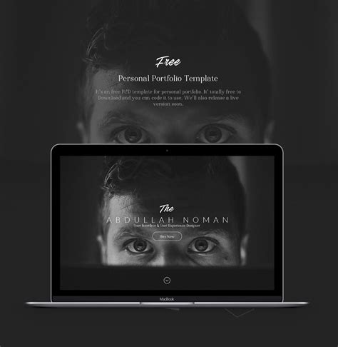 personal portfolio template free free portfolio website templates psd 187 css author