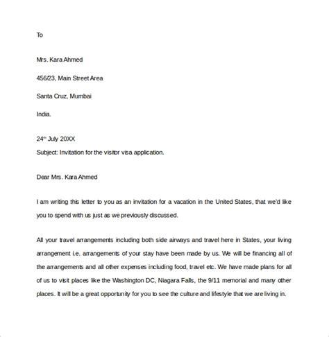 invitation letters   visa  word