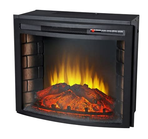 glass l chimney replacement 24 quot curved electric fireplace insert firebox with heater