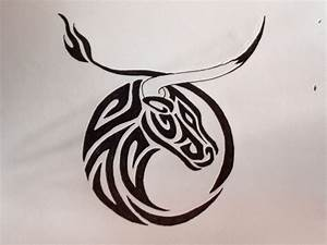 Collection of 25+ Tribal Taurus Tattoo Design