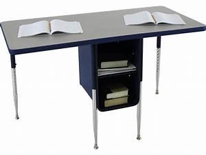 Adjustable Height Double School Desk 24 U0026quot X48 U0026quot   Student Desks