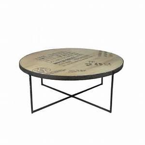 Pied De Table Industriel : table basse ronde style industriel en bois et m tal noir ~ Dailycaller-alerts.com Idées de Décoration
