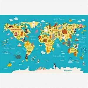 Weltkarte Kontinente Kinder : weltkarte kontinente meere kids world map cartoon globe world map poster ~ A.2002-acura-tl-radio.info Haus und Dekorationen