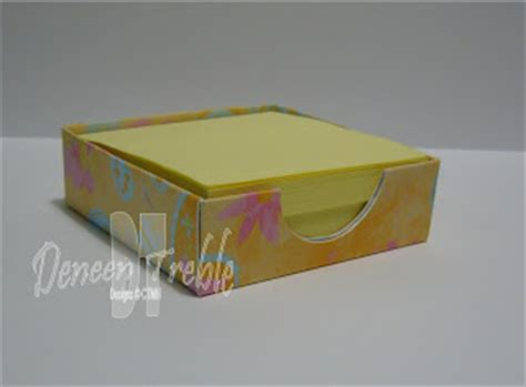 Post It Note Holder Template by A Path Of Paper Post It Note Holder