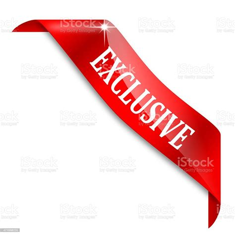 A Graphic Red Exclusive Ribbon Stock Illustration ...