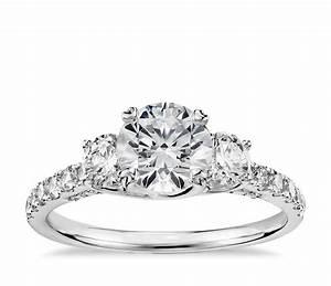truly zac posen three stone trellis diamond engagement With 3 diamond wedding rings