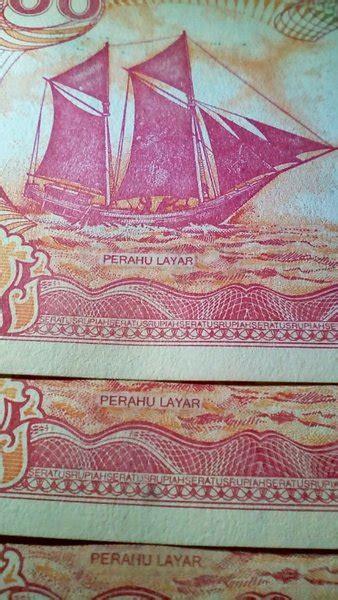 jual uang kertas  rupiah perahu layar  pita emas