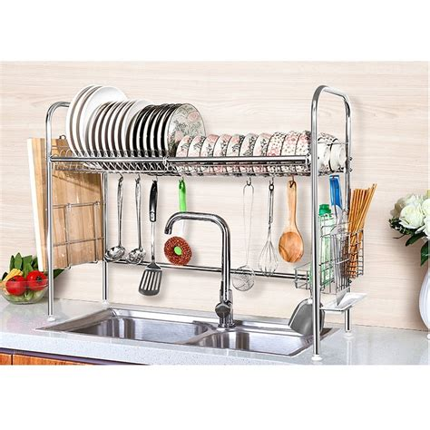 euro home over the sink organizer steel over the sink shelf organizers for kitchen and bathroom