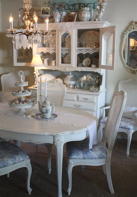 shabby chic dining  recovered  dining room chairs