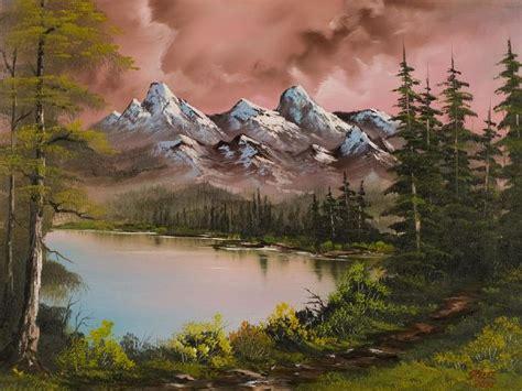 Bob Ross Autumn Storm Oil Paintings & Bob Ross Autumn