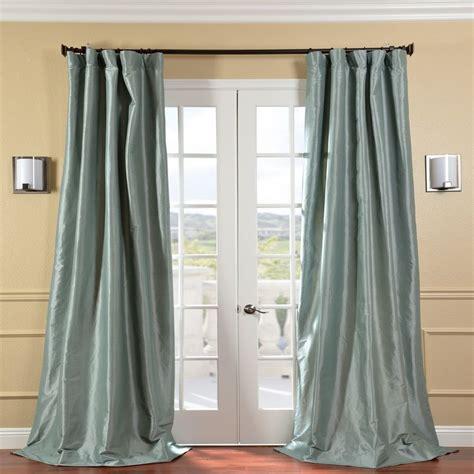 solid faux silk taffeta robin s egg curtain panel