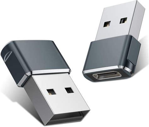 USB C Female to USB Male Adapter (2 Pack),Type C to USB A ...