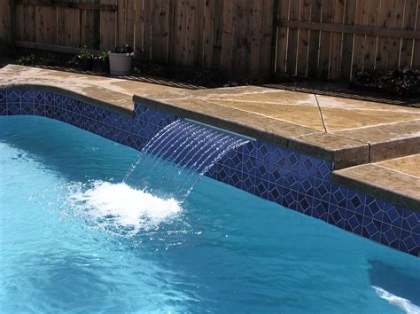swimming pool features swimming pool water features for sale adding waterfall to