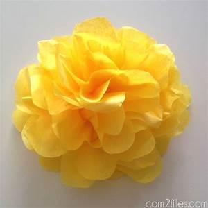 Fleur En Papier De Soie : diy de jolies fleurs en papier de soie ~ Nature-et-papiers.com Idées de Décoration