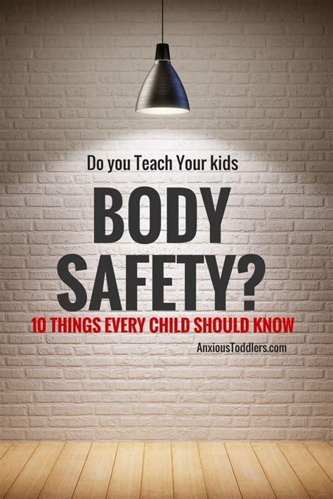 teach  kids body safety