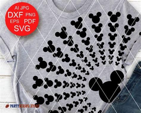 Svg, png, dxf, eps, silhouette, vector, cricut, cut files. Mandala Mickey head