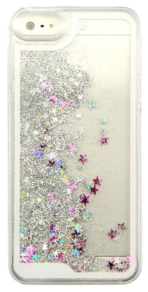 iphone with glitter inside glitter silver waterfall iphone