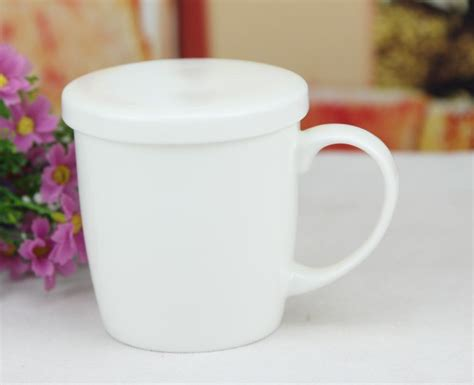 Free Shipping White Bone China Moonlight Cup Lid Cup