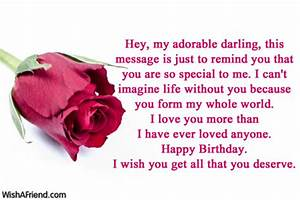 Hey, my adorable darling, this message, Birthday Wish For ...