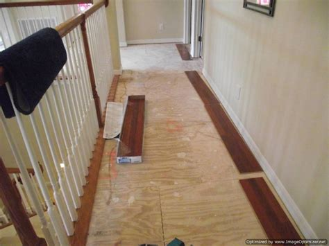 installing laminate flooring   shaped hallway