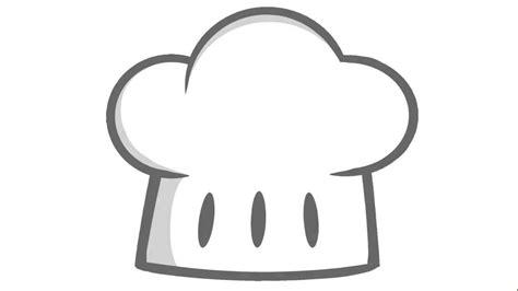 toc cuisine cómo dibujar un sombrero de chef