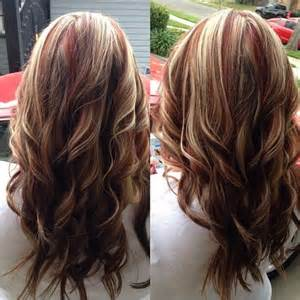Red Brown Hair with Blonde Highlights