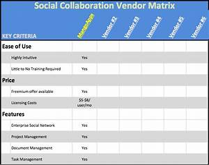compare collaboration tool intranet software vendors tips With software vendor comparison template