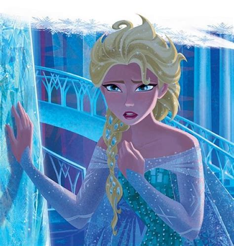 perhaps the most beautiful of all official disney 2d illustrations of elsa from a tale of two