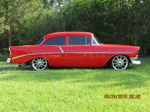 1956 Pro Tour 1956 Chevy 210 Post Frame Off Resto  Red On