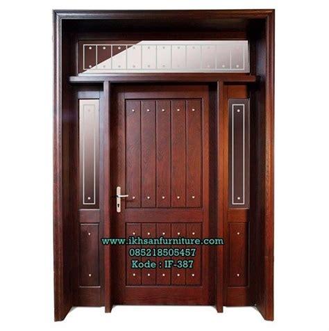 model pintu rumah minimalis terbaru kayu jati rumah