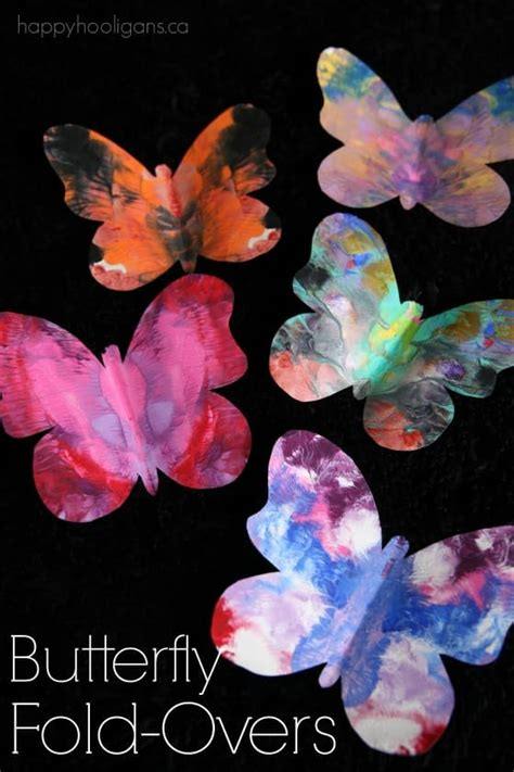 gorgeous symmetrical butterfly craft  kids  printable