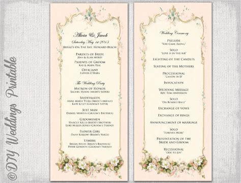 vintage wedding program templates psd vector eps ai