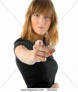Angry Girl Point Her Finger You Image & Photo | Bigstock